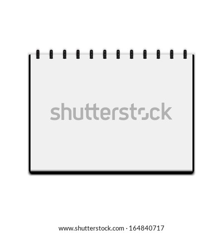 Sketchbook isolated on white background. Vector illustration - stock vector