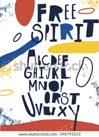 Sketchy ABC for your design. - stock vector