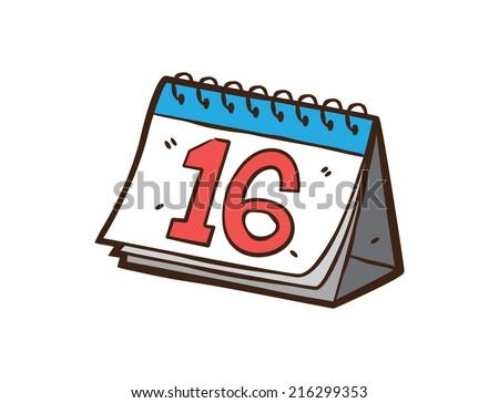 sketchy calendar - stock vector