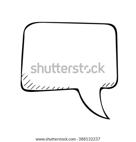 sketchy speech bubble. Vector doodle isolated illustartion - stock vector