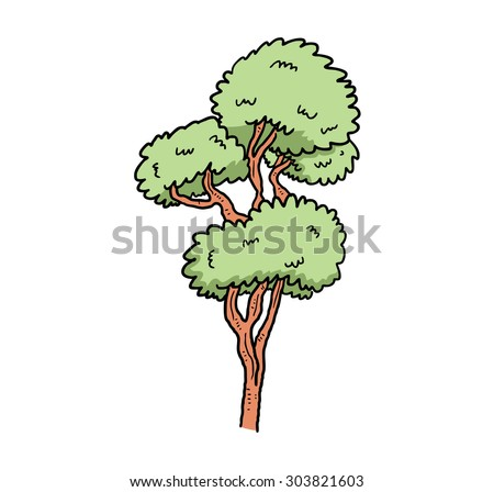 sketchy tree - stock vector
