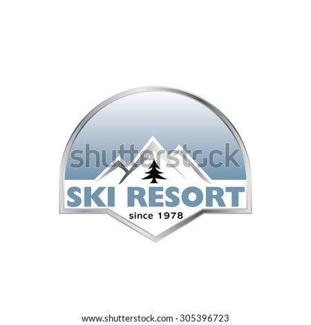 Ski resort - stock vector