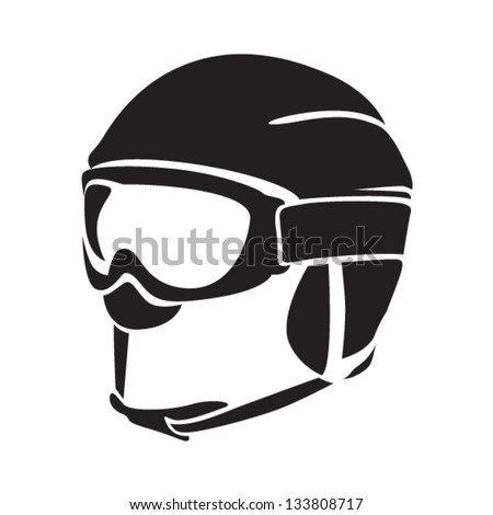 Ski Goggles Vector Skiing Helmet With Goggles