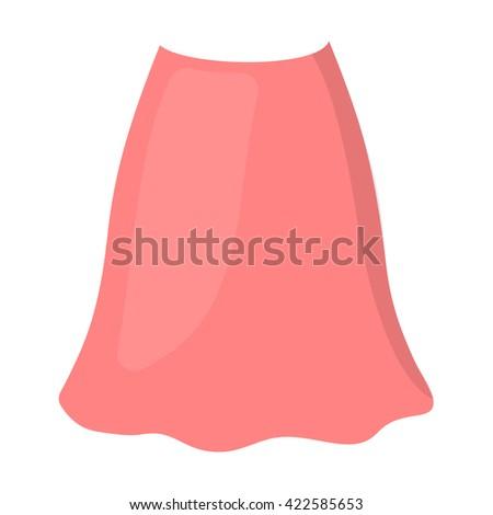 Skirt icon. Skirt icon vector. Skirt icon flat. Skirt icon app. Skirt icon web. Skirt icon logo. Skirt icon sign. Skirt icon cartoon. Skirt icon design. Skirt icon eps. Skirt icon art. Skirt icon draw - stock vector