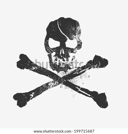 Skull and Bones, Vector design element - stock vector