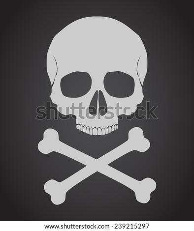 Skull and crossbones vector illustration - stock vector