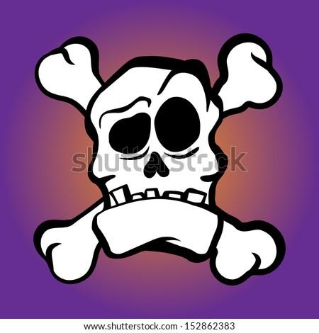 Skull de Muertos - stock vector
