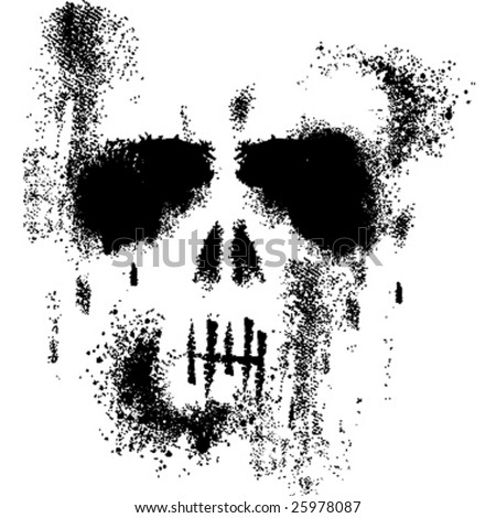 skull illustration - stock vector