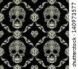 Skull Ornamental Pattern - stock vector