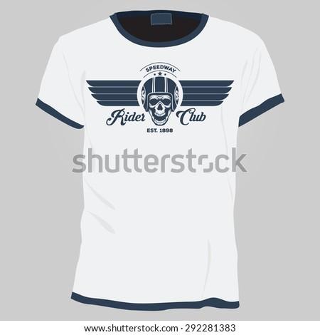 Skull t-shirt design template - stock vector