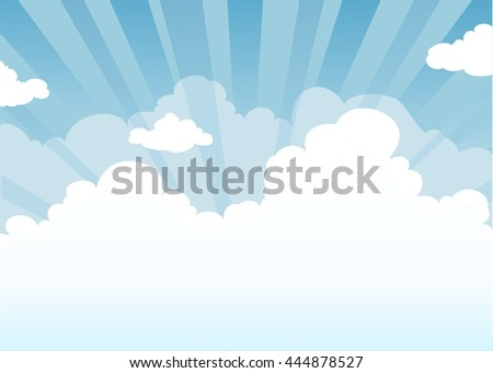 Sky and clouds with place for text. Nature background. - stock vector