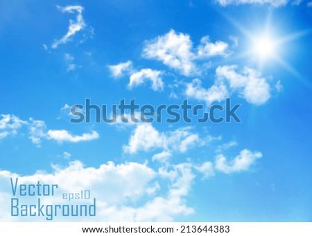 Sky.Vector background. - stock vector