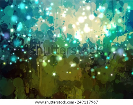 Sky with stars brush strokes background. Vector version - stock vector