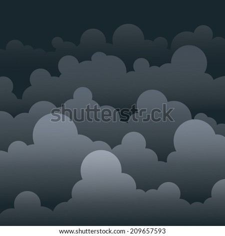 Sky with stormy clouds - stock vector