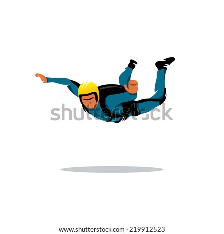 Skydiving Branding Identity Corporate vector logo design template Isolated on a white background - stock vector