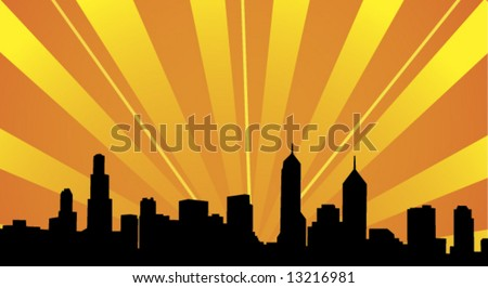 Skyline vector - stock vector