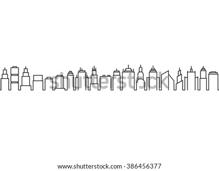 Skyscaper Background - stock vector