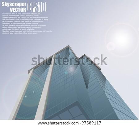Skyscraper background eps10 - stock vector