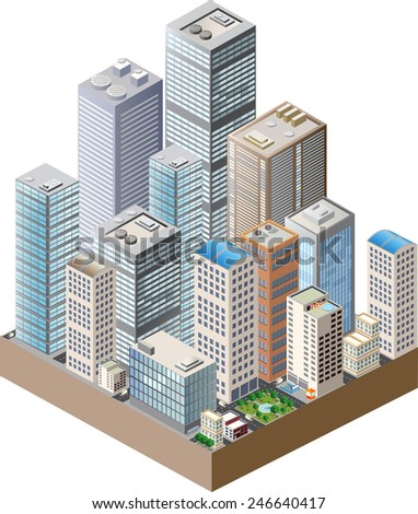 Skyscrapers, urban high-rise home. Set of objects for urban design. - stock vector