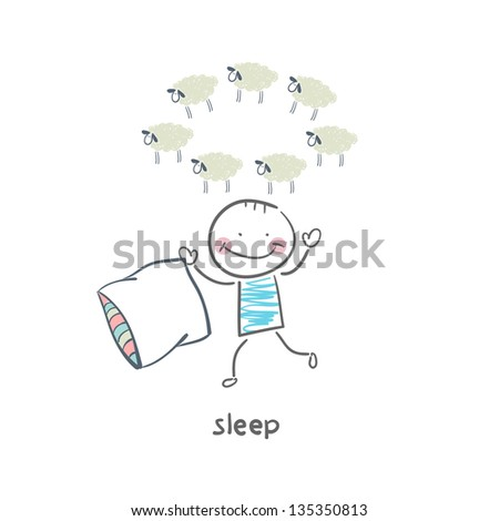 sleep - stock vector