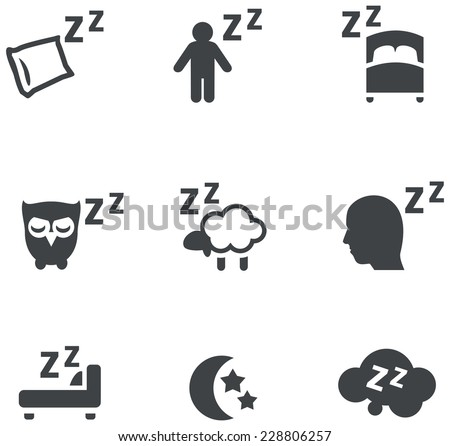 sleep concept icons - stock vector