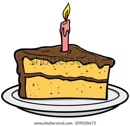 Cake Slice Cartoon Images : Birthday Cake Slice Stock Vectors & Vector Clip Art ...