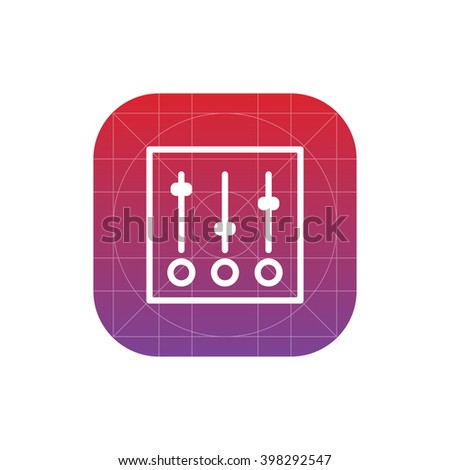 sliders icon. vector eps10 icon - stock vector