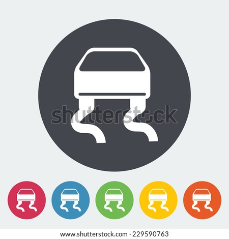 Slip-indicator. Single flat icon on the circle. Vector illustration. - stock vector