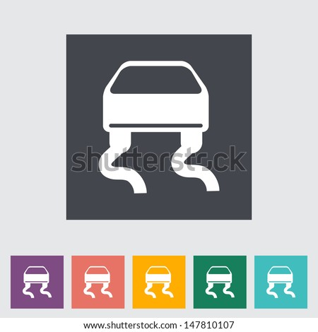 Slip-indicator. Single flat icon. Vector illustration. - stock vector