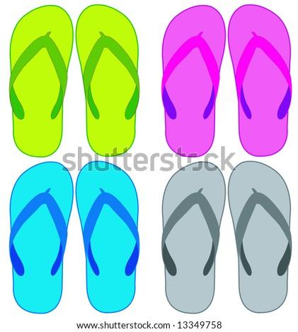 slipper - stock vector