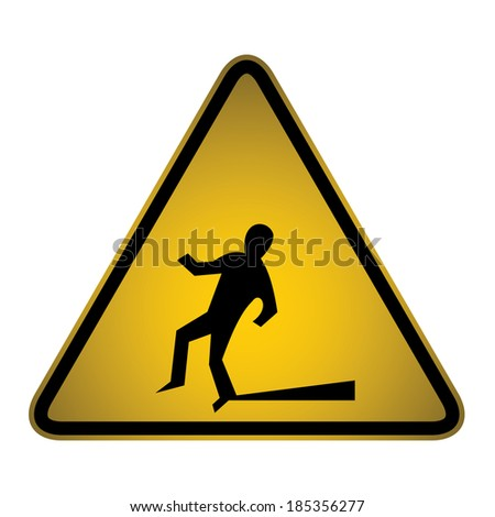 Slips and Trips warning sign- vector - stock vector