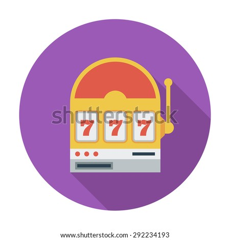 Slot. Flat vector icon for mobile and web applications. Vector illustration. - stock vector
