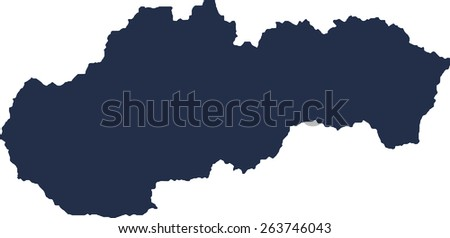 Slovakia Vector map. High detailed.  - stock vector