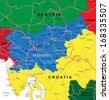 Slovenia map - stock vector