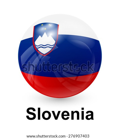 Slovenia state flag - stock vector
