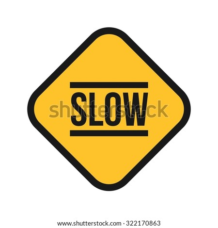Slow, sign, down icon vector image. Can also be used for traffic signs. Suitable for web apps, mobile apps and print media. - stock vector