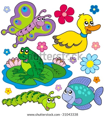 Small animals collection 8 - vector illustration. - stock vector