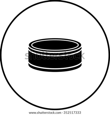small can symbol - stock vector