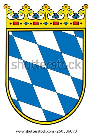 Small coat of arms of Bavaria, Germany, 