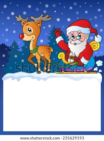 Small frame with Santa Claus 8 - eps10 vector illustration. - stock vector