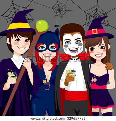 Adult Halloween Party Stock Vectors & Vector Clip Art ...