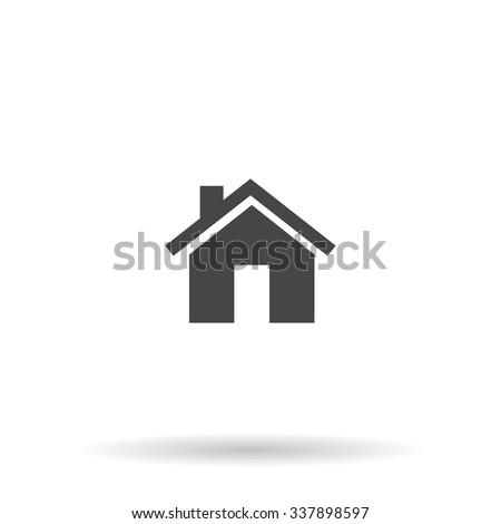 Small house. Icon Vector - stock vector