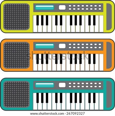 Small Keyboard vector - stock vector