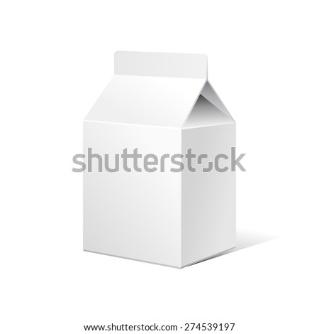 Small Milk Carton Packages Blank White. Ready For Your Design. Product Packing Vector EPS10  - stock vector