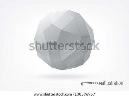 small rhombicosidodecahedron for graphic design, you can change the color keeping the same form - stock vector