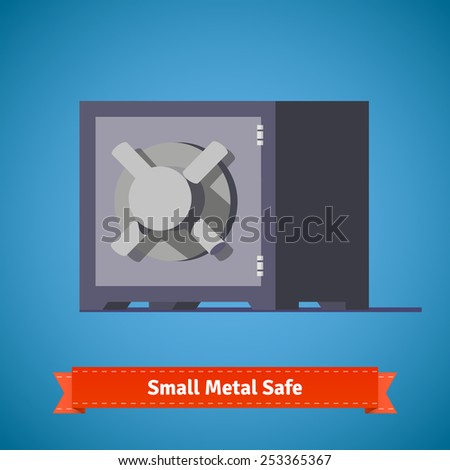 Small safe. Flat style illustration or icon. EPS 10 vector. - stock vector
