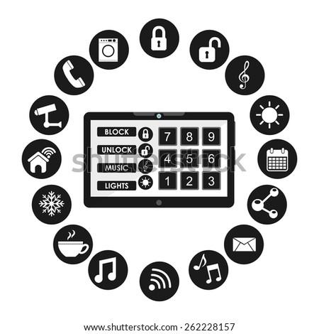 smart house design, vector illustration eps10 graphic  - stock vector