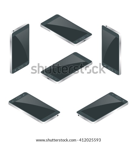 Smart iphon, Phone icon vector, Smart Phone, phone illustration, phone Isolated, phone flat, phone isometric, phone web, phone best, phone mobile, phone icon, phone 3d, Smart Phone, modern smart iphon - stock vector