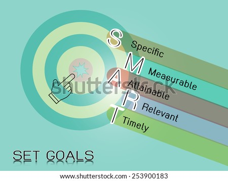 smart objective goals,business concept - stock vector