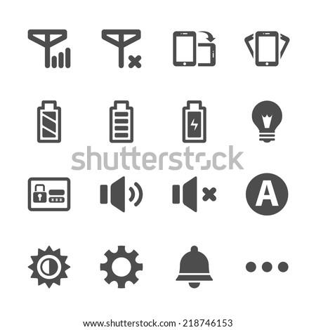 smart phone application icon set, vector eps10. - stock vector